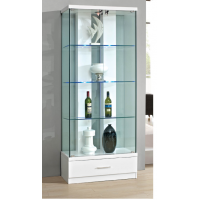 2 glass doors & 1 drawer display cabinet