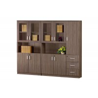 Bookshelf with drawers and doors
