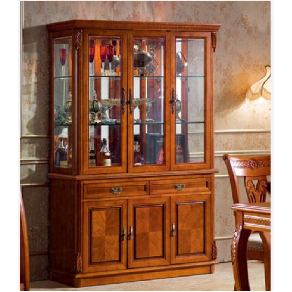 Magnificent Wood Display Cabinet