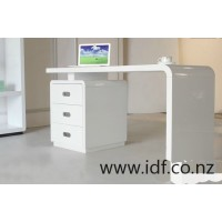 High gloss white desk