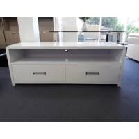 White gloss TV cabinet