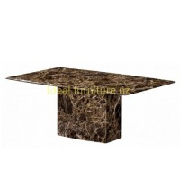 Brown marble dining table