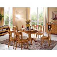Solid wood extension dining table