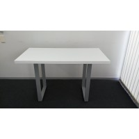 High gloss white table