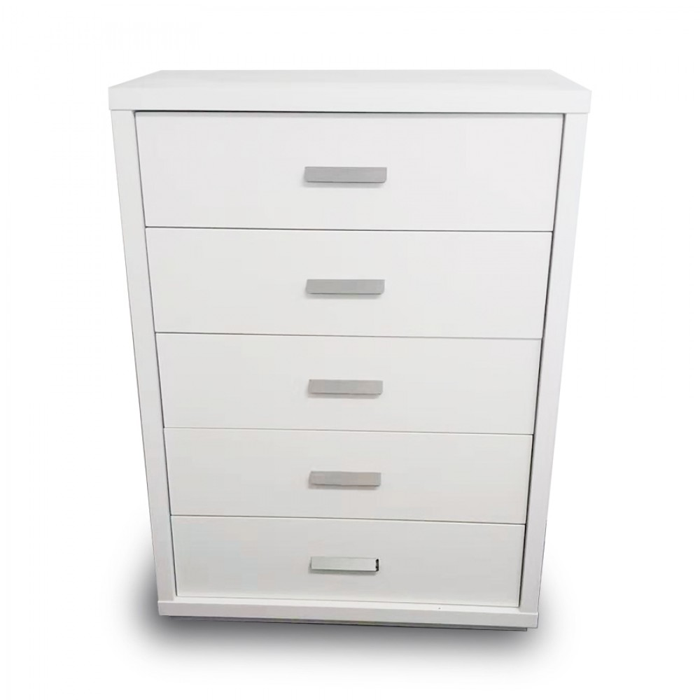 Chest of drawers gloss white