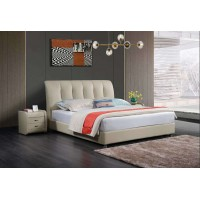 Queen size bed frame-Leather