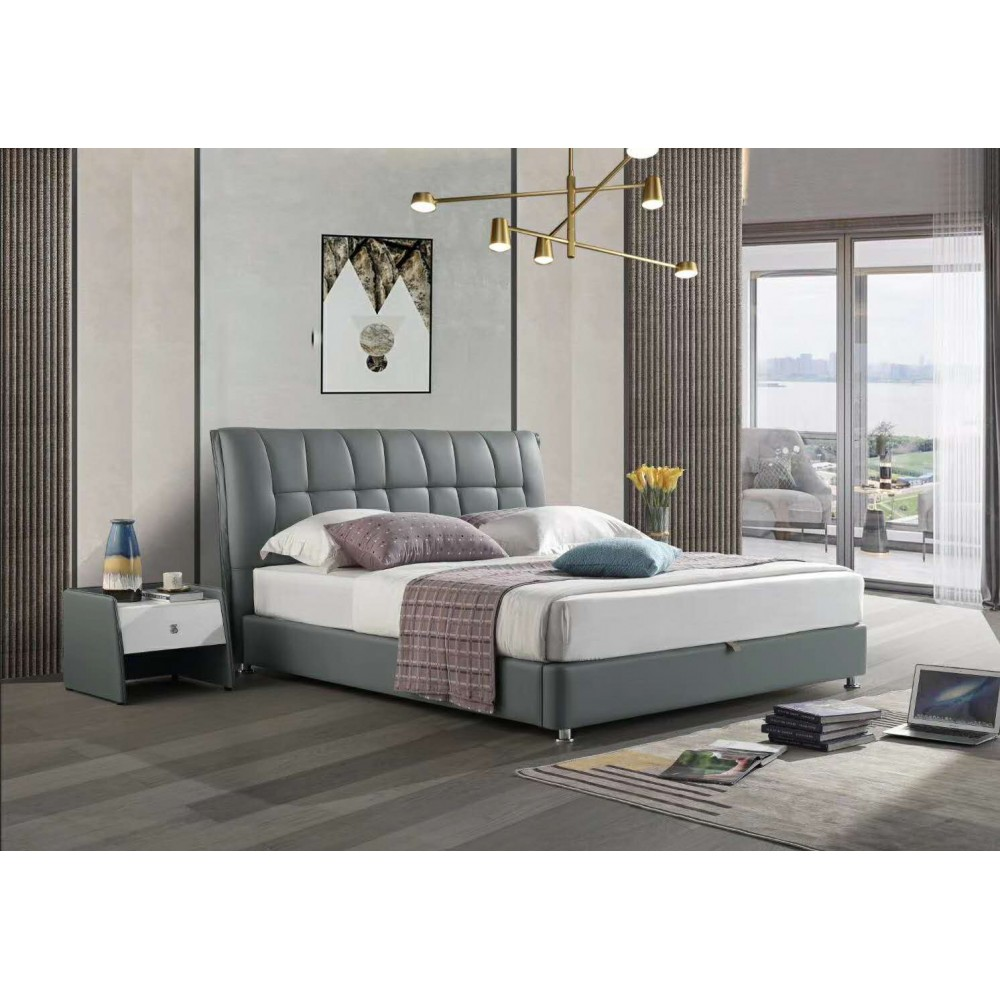 Leather bed frame-Double