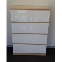 Tallboy Drawers -Natural / Gloss white