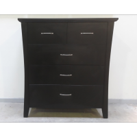 5 Drawers chest -Black