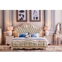 Super king Leather bed