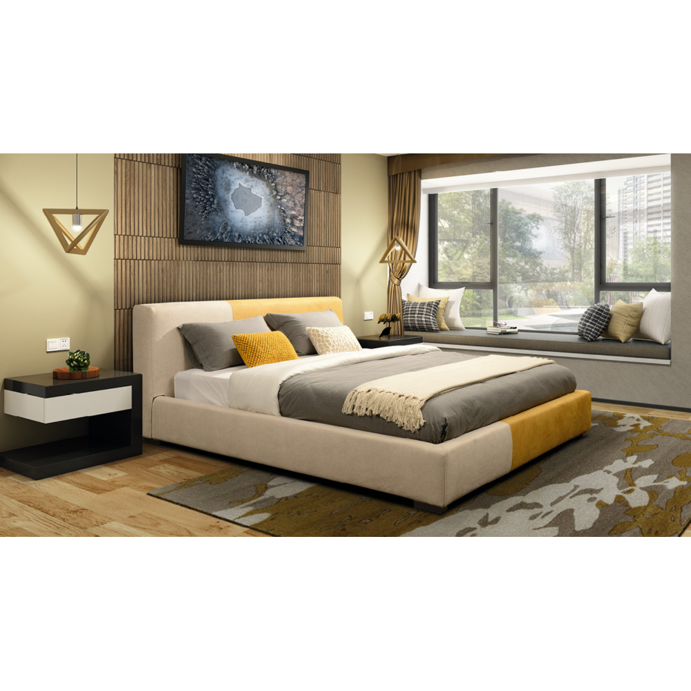Queen size bed frame -Fabric