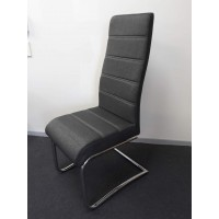 Fabric dining chair -gray