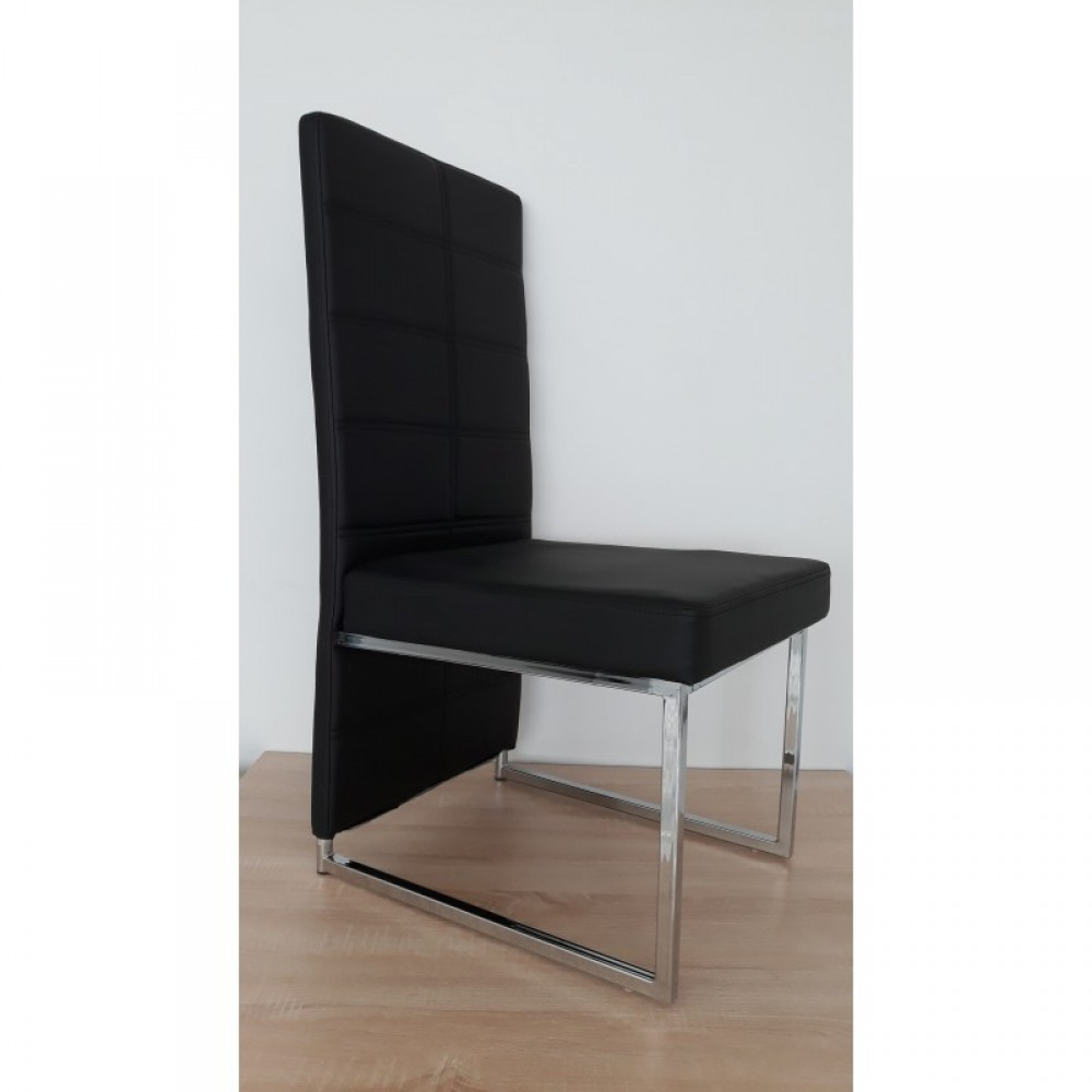 Black dining chairs x 6