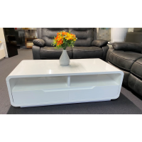 New modern gloss white coffee table