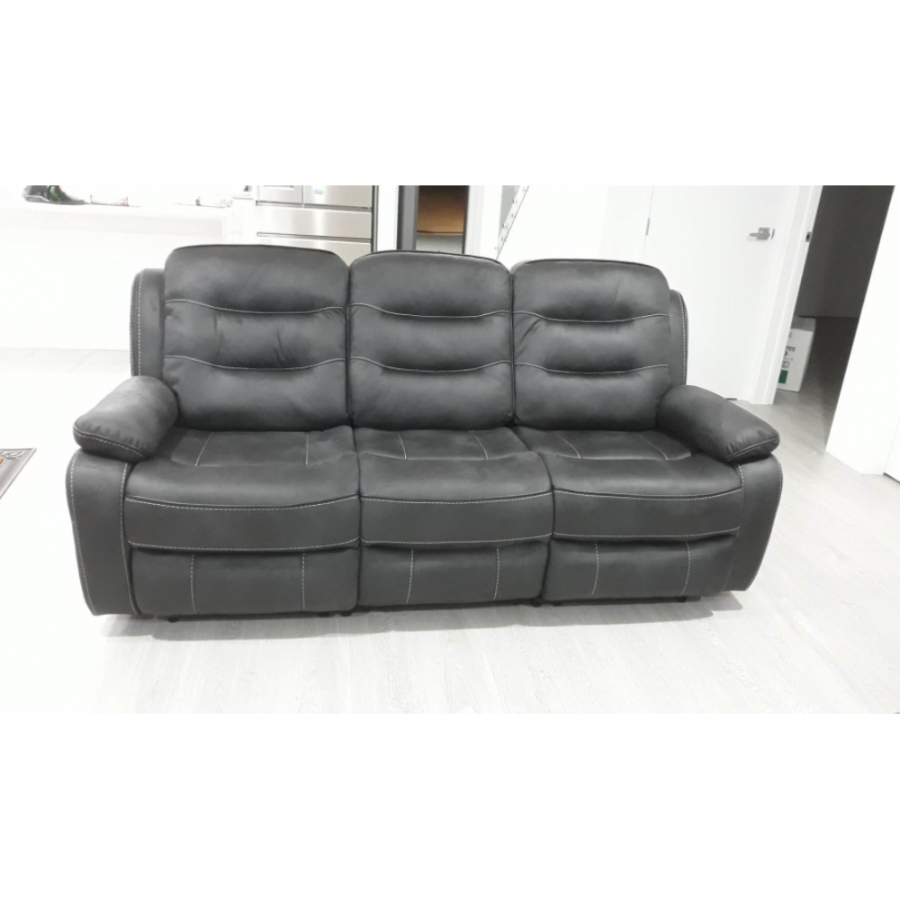 Fabric 3 seater recliner