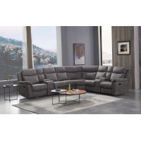 Recliner  corner Suite-Grey